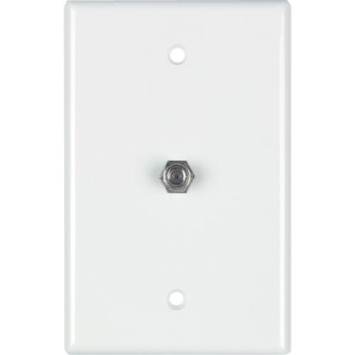 WALLPLATE 1-GANG F-CON MID WHT