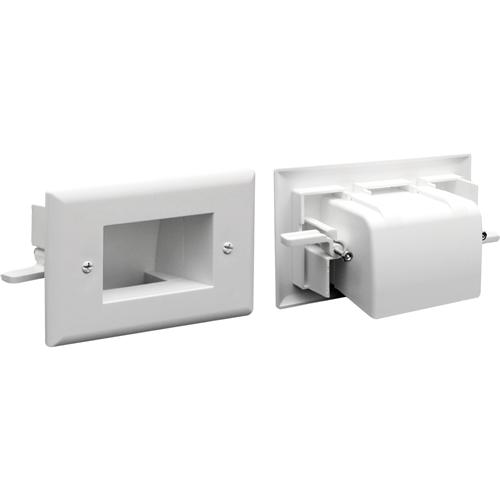 CABLEPLATE EZ-MOUNT 1-GANG WHT