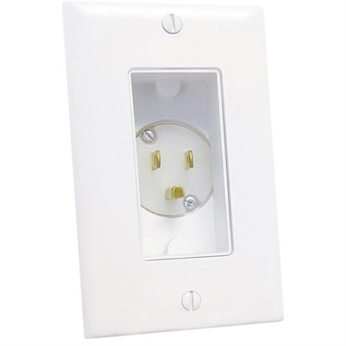 POWER INLET 1-GANG DECOR WHT