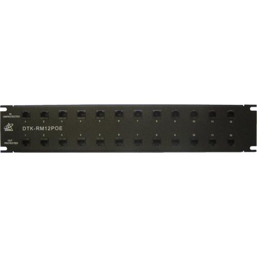 SURG PROT RACK MT 12PORT 1U