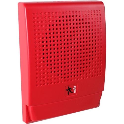 SPK STROBE 70 VOLT WALL MT RED