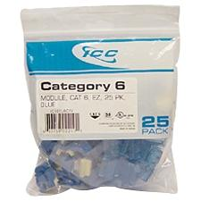 CAT6 INSERT 8P8C 25-PK BLUE