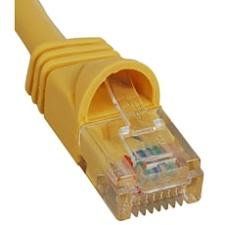 PATCH CORD,CAT6,MLD BOOT,1  YL