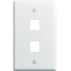 10 PK 1-GANG 2-PORT WALLPLATE