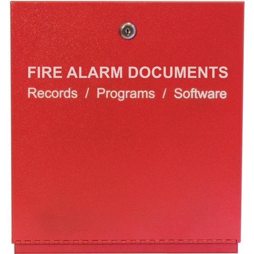 FIRE ALARM STORAGE CABINET RED