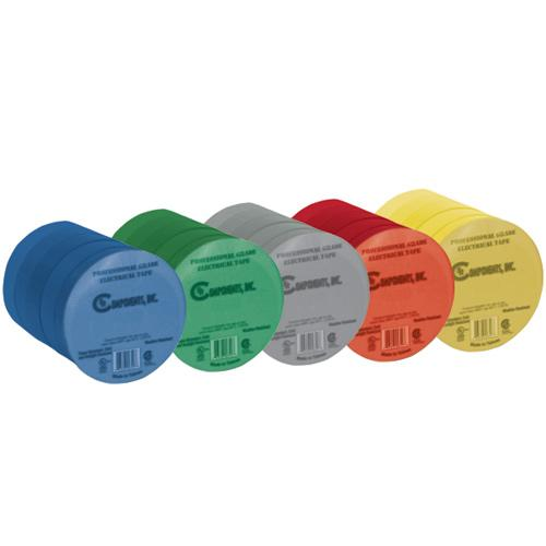 5 PK ASSORTED COLORS ELEC TAPE