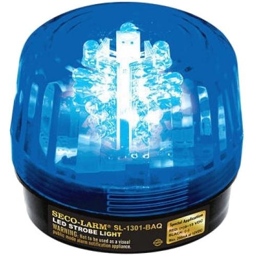 9/15VDC LED STROBE,BLUE,IN/OTD